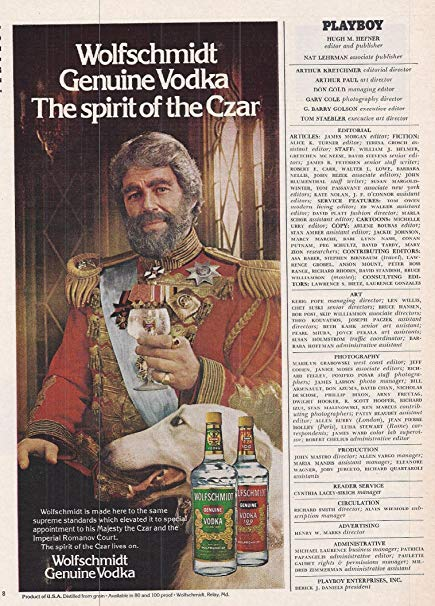 An image showing a newspaper advertisement on Alcohol