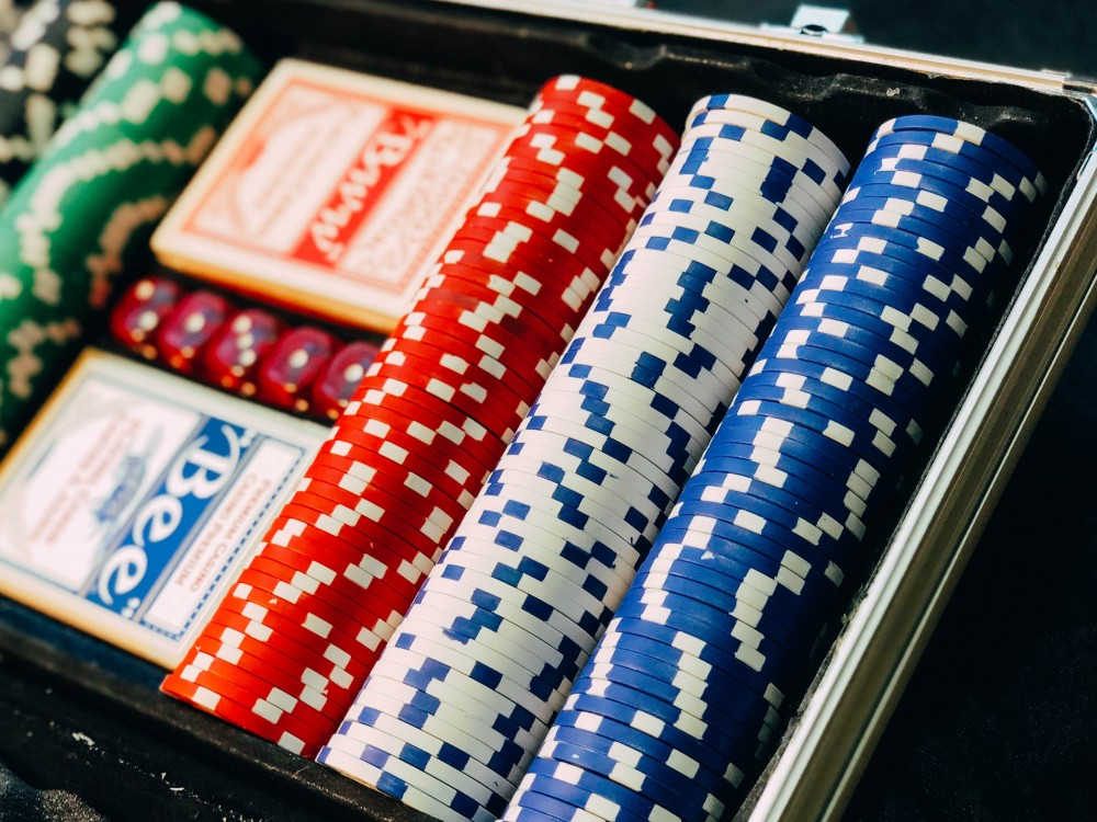 An image showing coins used for playing poker